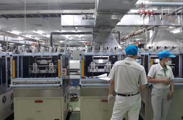 Xing yue loong in Nidec Vietnam factory equipment